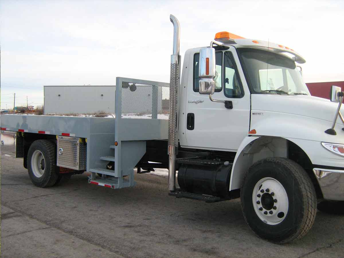 steel flatbed truck