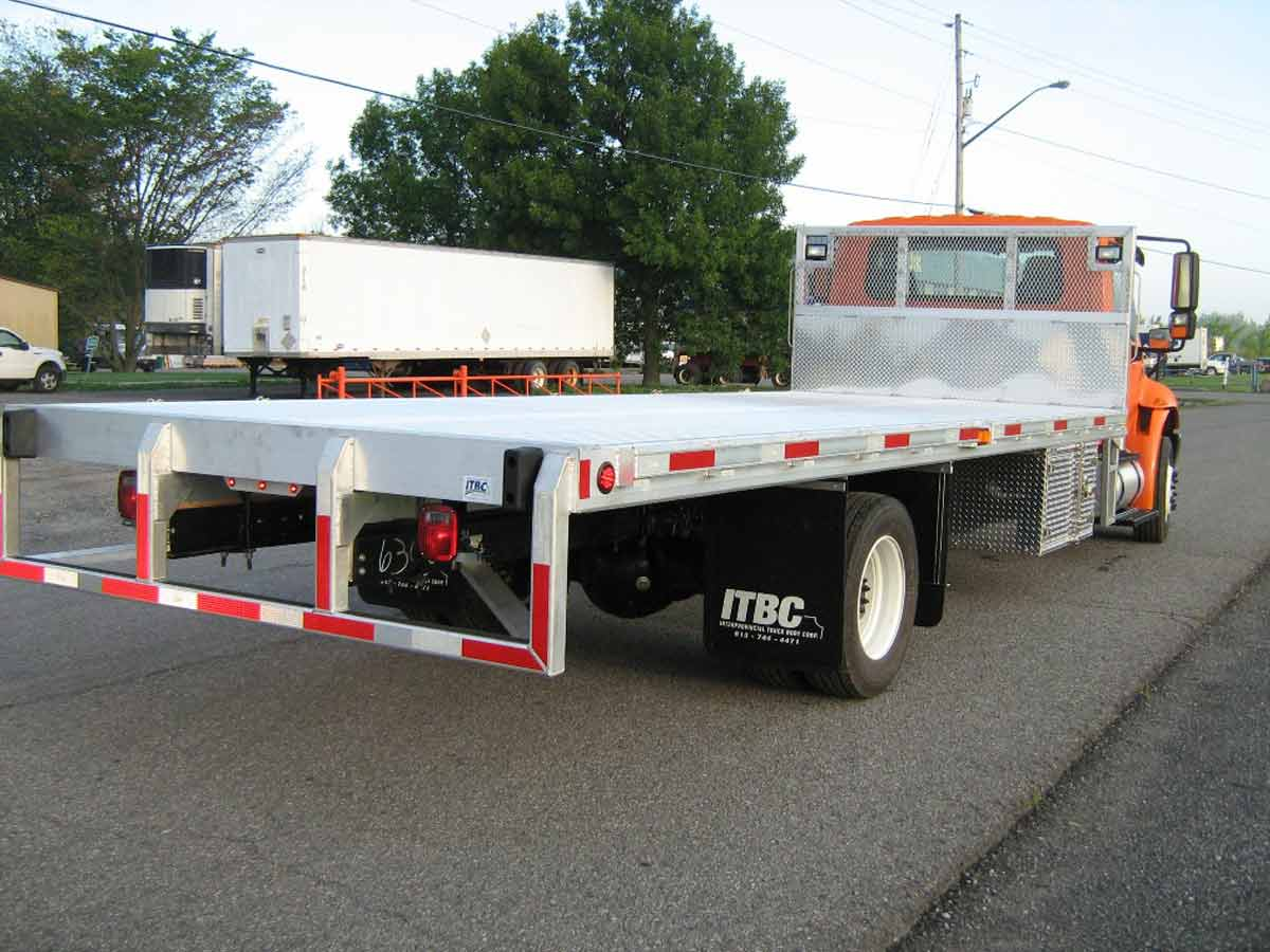 new steel flatbed truck